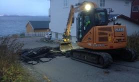 Gravearbeidet har startet