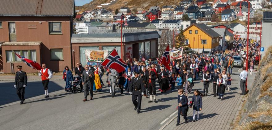 17. mai 2018 i Honningsvåg