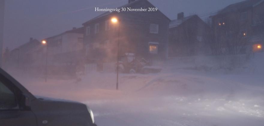 Uvær i Honningsvåg – se filmen