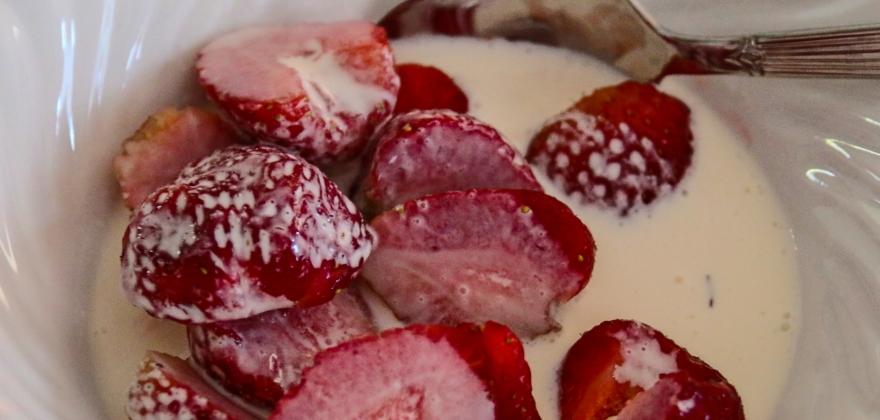 Bør vaske jordbærene