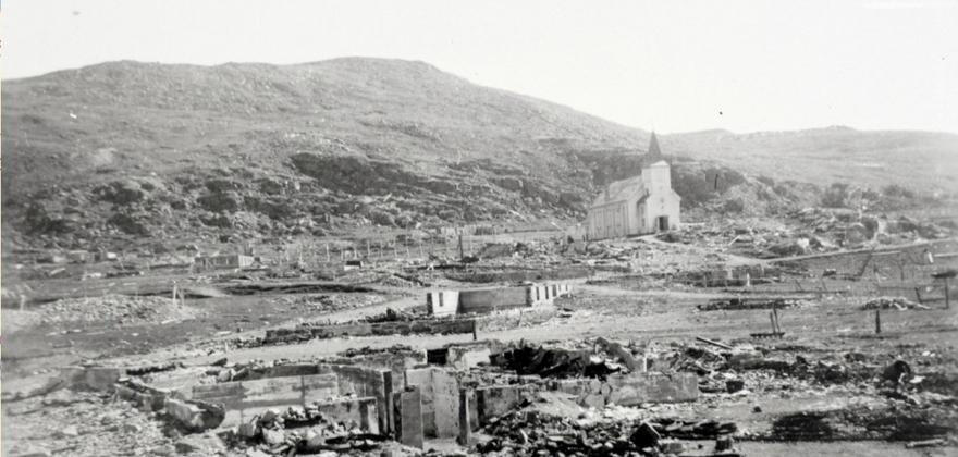 Quisling sto bak brenning av Finnmark