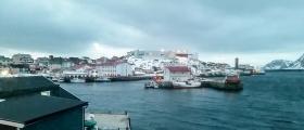 Se filmen da «Nordnorge» snudde i Honningsvåg