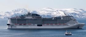Verdens femte største cruiseskip på besøk i Honningsvåg