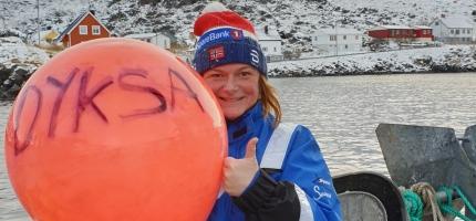 Dyveke Olsen stortrives som fisker