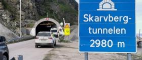 Skarvbergtunnelen er åpen