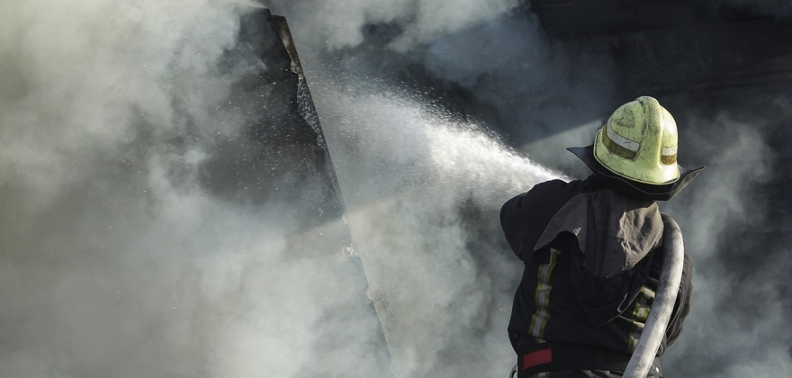 Brann ved Gairasmoen avfallsanlegg