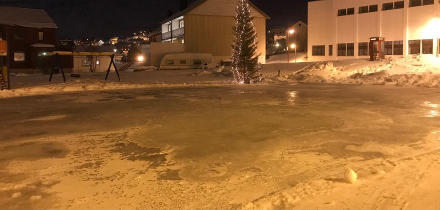 Skøytebane i Honningsvåg