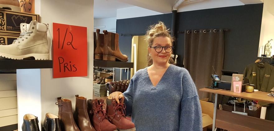Avslutter salget av sko