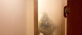 Brannøvelse under budsjettframlegget