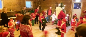 Barnehagen traff julenissen hos The View