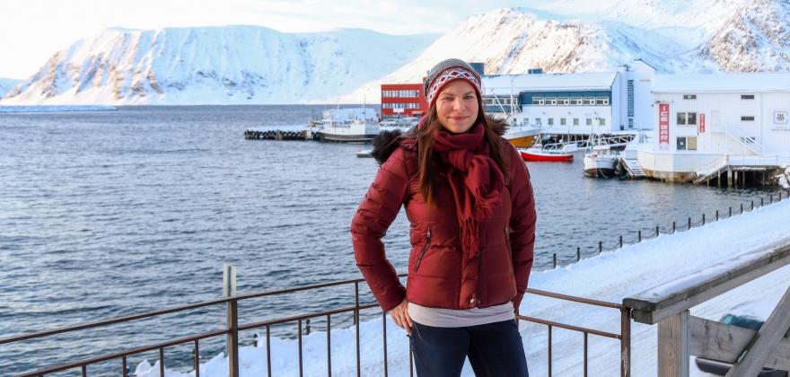 Nadia Leinan har fått sertifikat for Grete Roede-skolen trinn 2