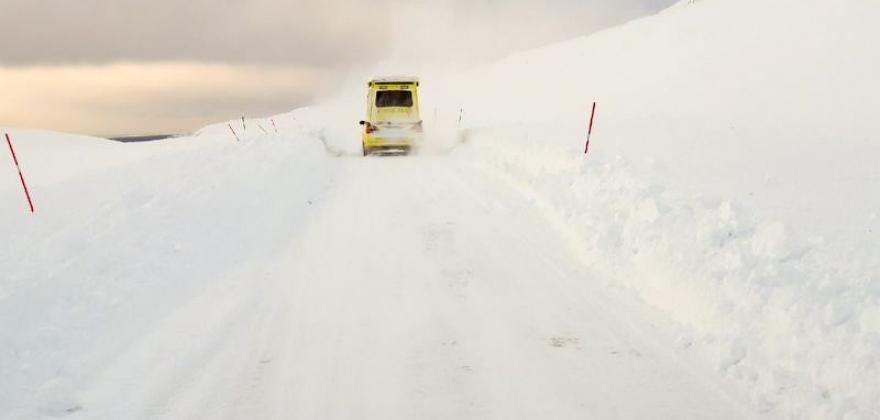 Nordkynveien var stengt 53 ganger