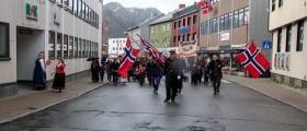 Tradisjonell 17. mai-feiring i Nordkapp