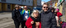 Ingalill med valgkamp i Honningsvåg