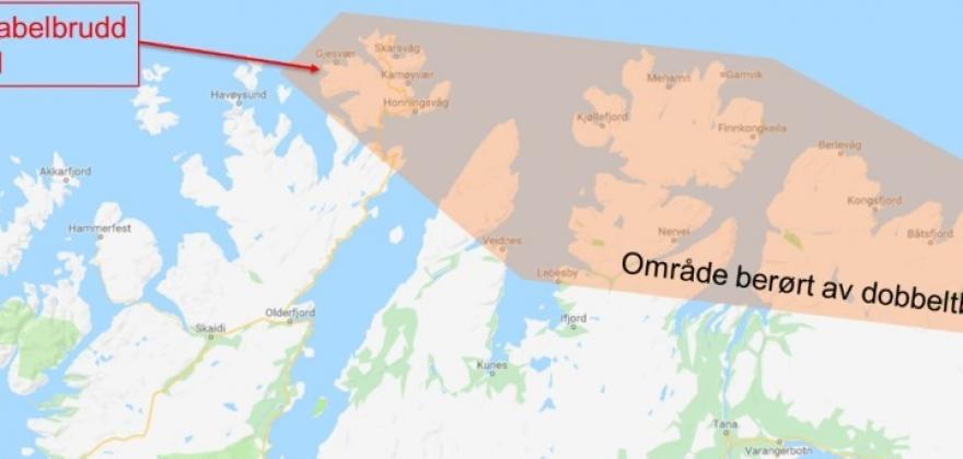 Feilårsak i Finnmark: To brudd samtidig