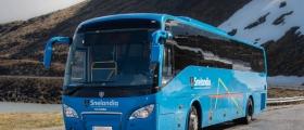 Ingen skader på buss, sjåfør eller passasjerer