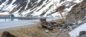 Steinras på Nordvågveien