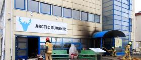 Brann ved Arctic suvenir