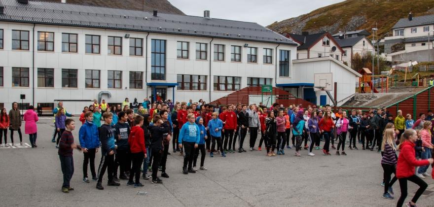 Skolejoggen 2017 i Honningsvåg