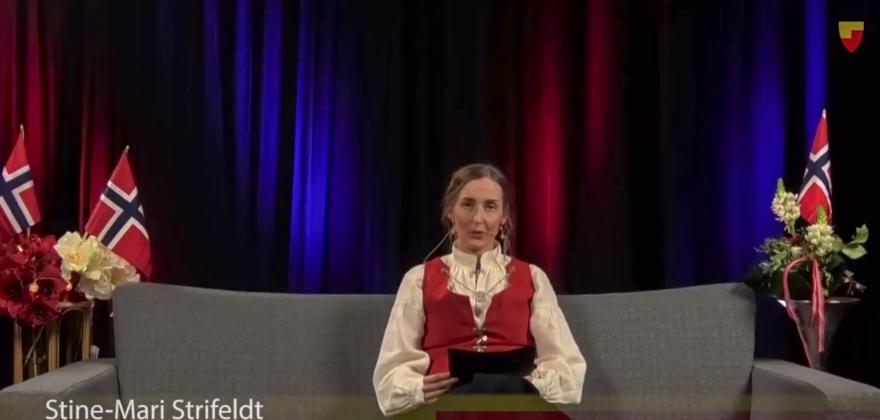 Stine-Mari Strifeldt er stolt av kollegaene i helsevesenet