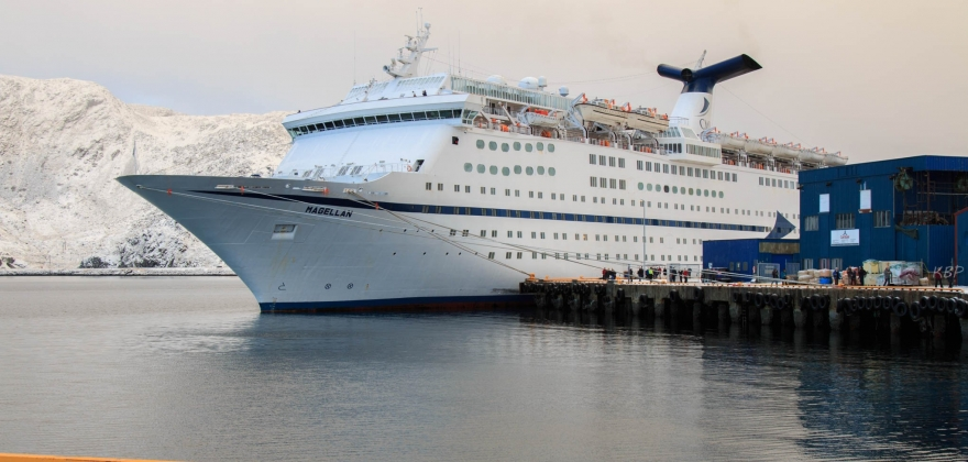 Årets siste cruiseskipbesøk i Honningsvåg – se bildene