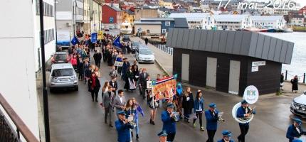 Honningsvåg Musikkforening spiller i Honningsvåg