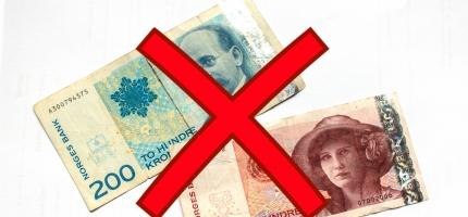 Gamle sedler er på tur ut