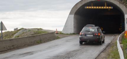 Åpnet Skarvbergtunnelen onsdag kveld