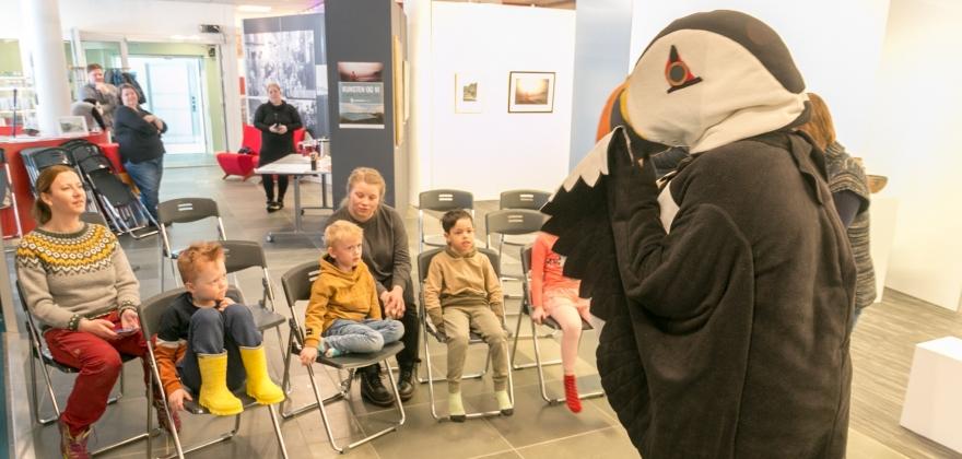 Lunde fikk møte barn fra Nordvågen barnehage