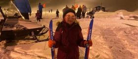 Sara Pedersen gikk skirenn i fantastiske forhold