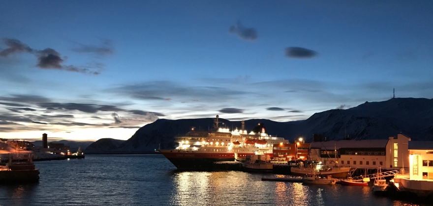 Hurtigruteskipet «Kong Harald» ble forsinket i Honningsvåg