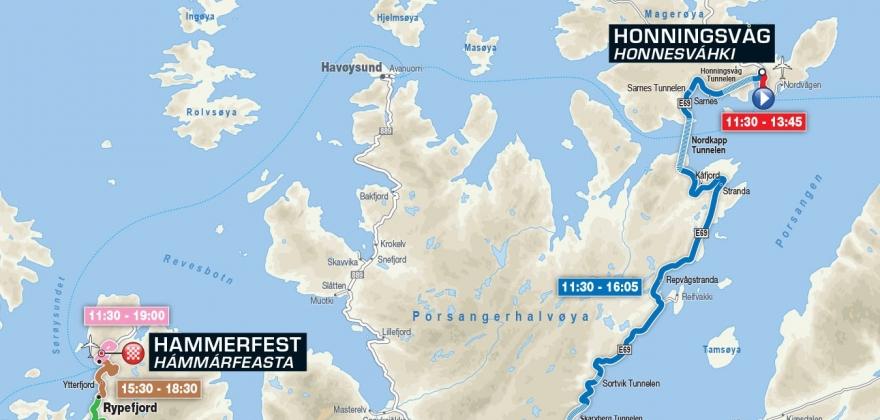 Stengte veier under Arctic Race of Norway