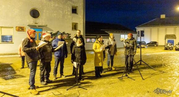 Julegrana tent i Honningsvåg