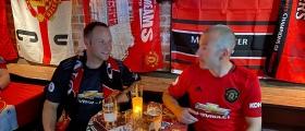 Fornøyde United-supportere i Nordkapp