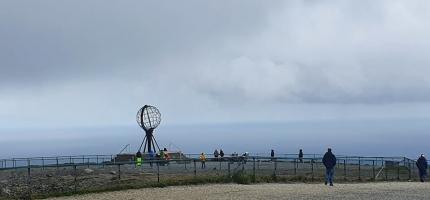 Besøkende fra hele Europa på Nordkapp