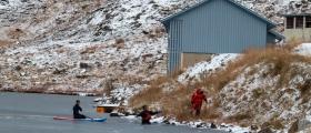 Utrykning til Lagunen-anlegget etter at personer lekte seg på isen