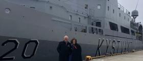 Ordføreren og varaordføreren feiret 17. mai om bord i kystvaktskipet Nordkapp