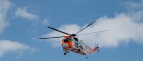 Motorsyklist til sykehus med Sea King