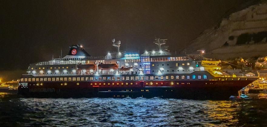 Polarlys sløyfer Kjøllefjord og Mehamn