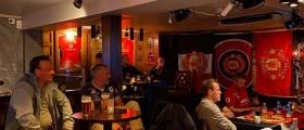 Fornøyde Manchester United-supportere i Honningsvåg