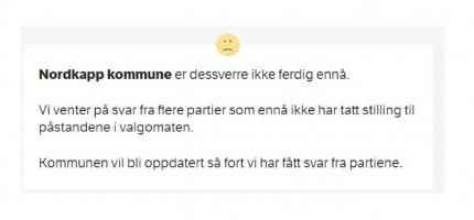 MDG Nordkapp har levert svarene til NRK