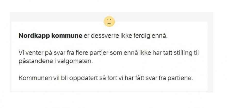 NRK mangler svar fra Høyre og MDG i Nordkapp