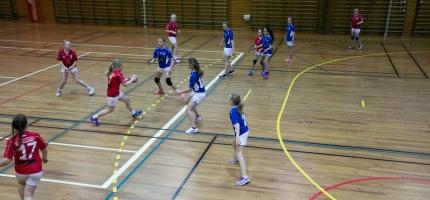 Det spilt håndballkamper i Honningsvåg i helgen