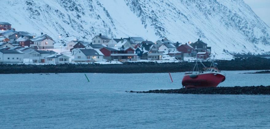 Fiskebåt på Nordvågholmen