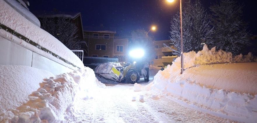 Oppdatering kommunal snørydding onsdag