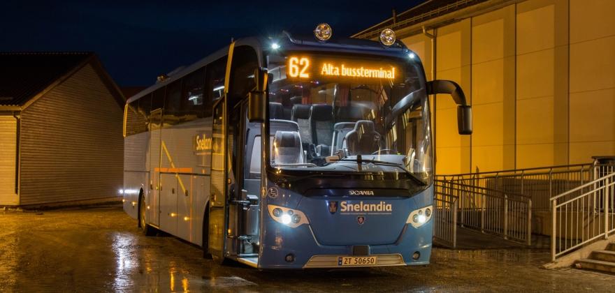Kansellerte ettermiddagsbussen til Olderfjord