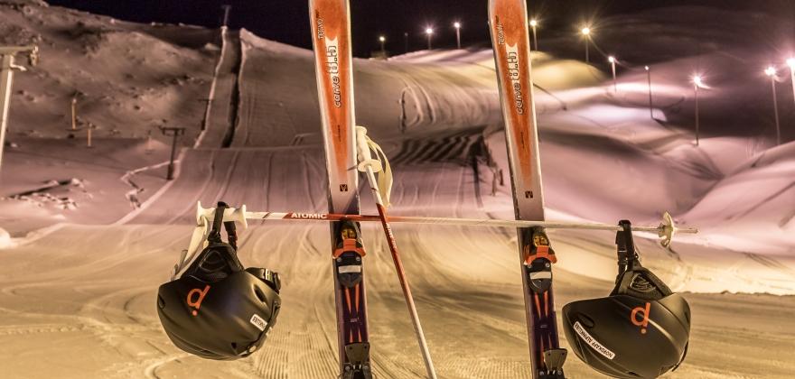 21 deltakere på nybegynnerkurs i alpinbakken