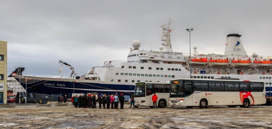 «Marco Polo» besøkte Honningsvåg