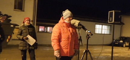 Video av julegrantenning i Honningsvåg