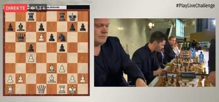 Spilte sjakk mot Magnus Carlsen og tar tapet med fatning